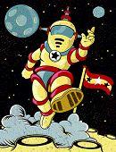 Spaceman retrô