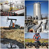 Oil gas industry collage