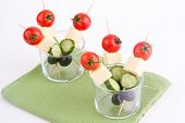 cheese and olive with tomato and cucumber
