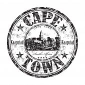 Cape Town grunge rubber stamp