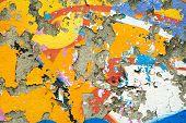 Colourful Remnants Of Peeling Graffiti