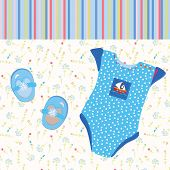 Baby background for boy funny card