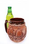 Mug And A Bottle Of Beer