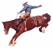 Cowboy Reitpferd am Rodeo.