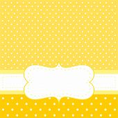 image of new years baby  - Sunny vector card or invitation with yellow background - JPG