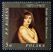 Postage Stamp Poland 1977 Helene Fourment, By Rubens