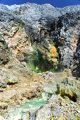 Sulfur Spring near Pangururan.