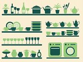 Kitchen Objects Silhouettes Set