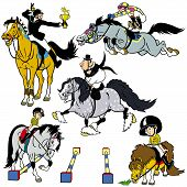 Set With Cartoon Riders