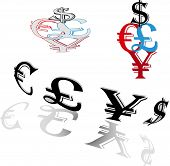 Symbols Of World Currencies