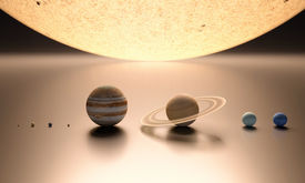 picture of uranus  - A rendered comparison of the Sun and the Planets Mercury Venus Earth Mars Jupiter Saturn Uranus and Neptune - JPG