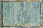 Old Wooden Painted Green Frame