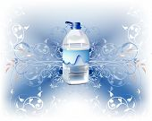 Bottle with fresh water