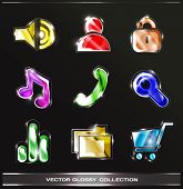 Glossy icons collection