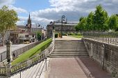 LIMOGES, FRANCE - SEPTEMBER 10: Staircase to Orsay Garden in Limoges, France on September 10, 2013.