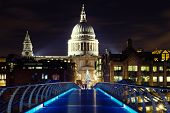 Illuminated St. Pauls Cathedral