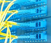 fiber optic communication and internet network server
