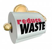 Reduce Waste Cut Resource Material Use Trash