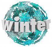 Winter Word Snowflake Snow Ball Season Change