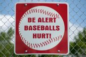 Baseball Warning Sign