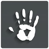 Hand print. Human handprint icon. Vector.