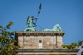 Quadriga On Top Of The Brandenburger Tor (brandenburg Gate) In Berlin, Germany