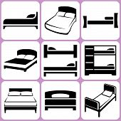 Bed Icons Set