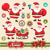 Santa Claus vector illustration collection