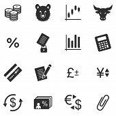 Finance black web icons