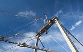 Details Of Fishing Boat And Blue Sky