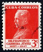 Postage Stamp Cuba 1953 Francisco Carrera Justiz, Educator