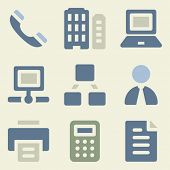 Office web icons money color set