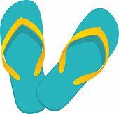 Flip-flop Turquoise