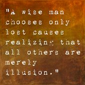 Inspirational quote by Lao Tzu by on earthy background
