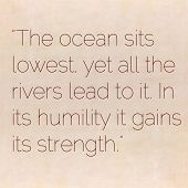 Inspirational quote by Lao Tzu (ancient Taoist philosopher) on earthy background