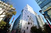 Ginza, Japan - Nov 26 : Modern Building In Ginza Area On November 26, 2013 In Tokyo
