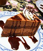Piece Of Chocolate Moose Cake
