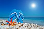 Blue Sandals And Sun