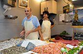 Fishmongers, Malaga, Spain.