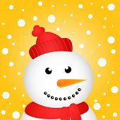 Happy Christmas snowman