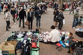 Flea Market At Yoyogi Park In Harajuku, Japan