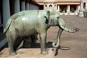 Elephant Statue At Wat Pho Temple. Thai Traditional Buddhist Arc