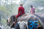 Water Splashing Festival In Thailand