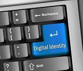 Keyboard Illustration Digital Identity
