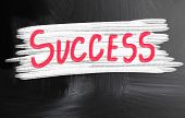 Success Handwritten With Chalk On A Blackboard