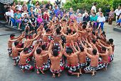 DENPASAR - JULY 27: Traditional Balinese Kecak dance shown in Denpasar, Bali, Indonesia on July 27,