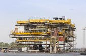 foto of erection  - Platform petroleum fabrication and erection work in onshore yard - JPG