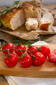 Red Tomatoes And Focaccia