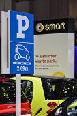 Smart Car Parking Sign At The Geneva Motor Show