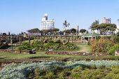 Sunken Gardens On Beachfront In South Africa